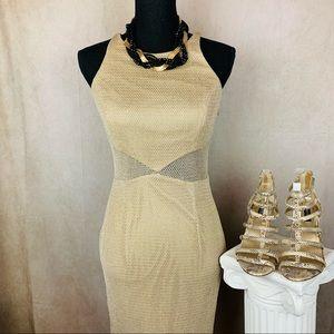 Bari Jay | Vintage Metallic Dress | Gold | 6